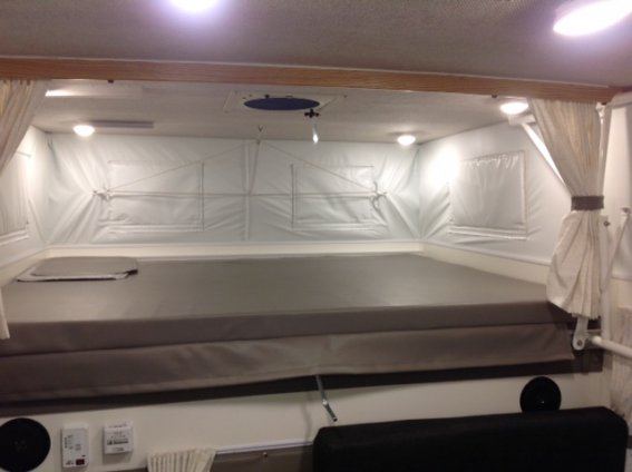 Wood Storage Bed