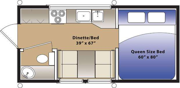 Pop up trailers with bathroom and shower